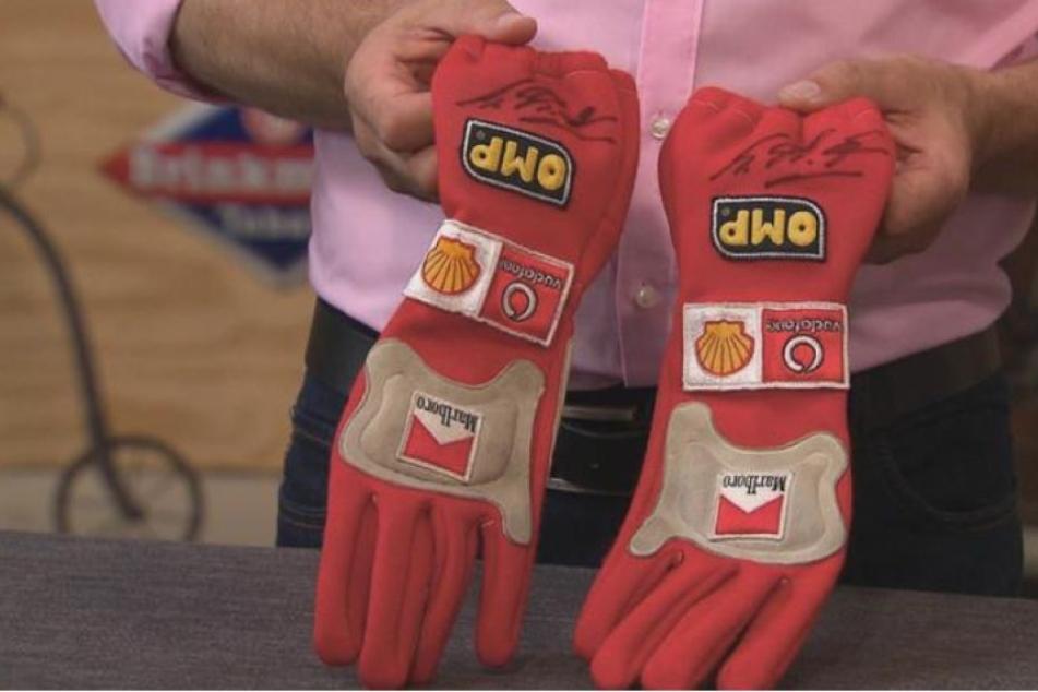 Die Handschuhe von Michael Schumacher.
