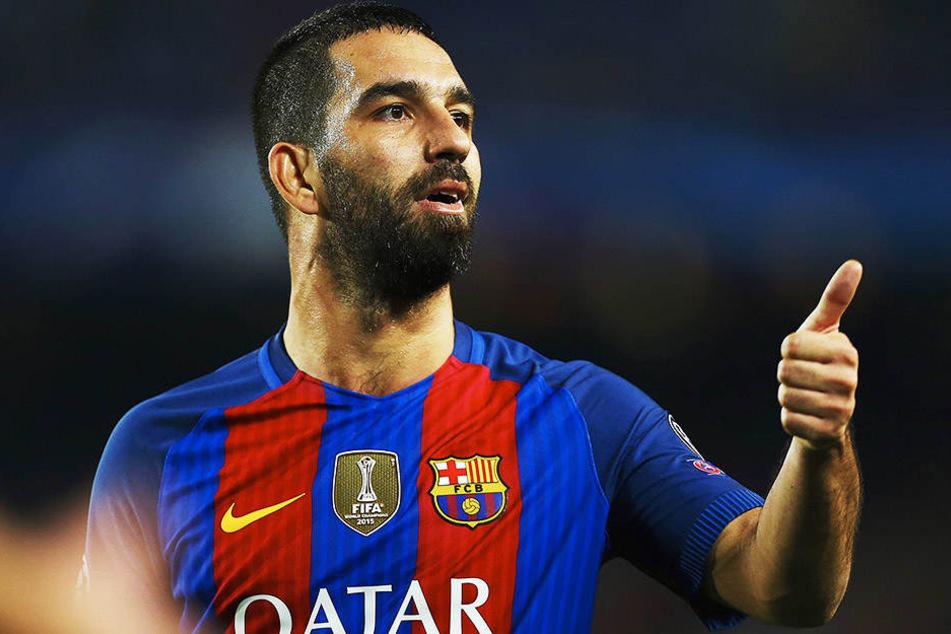 Den Daumen hoch gab es für seine Aktion nicht: Arda Turan, hier bei einem seiner seltenen Einsätze für den FC Barcelona.
