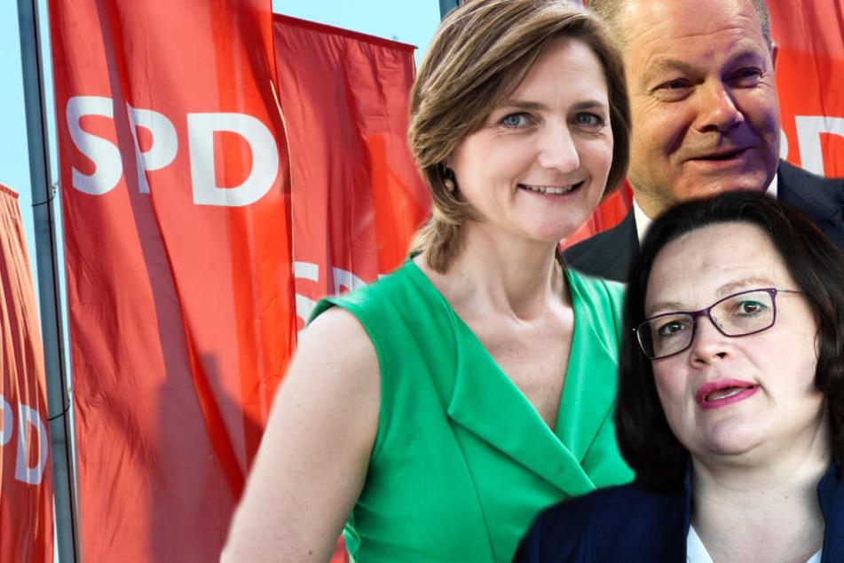 Andrea Nahles (r.), Simone Lange und Olaf Scholz sind drei der Akteure, die den SPD-Parteitag in Wiesbaden prägen werden.