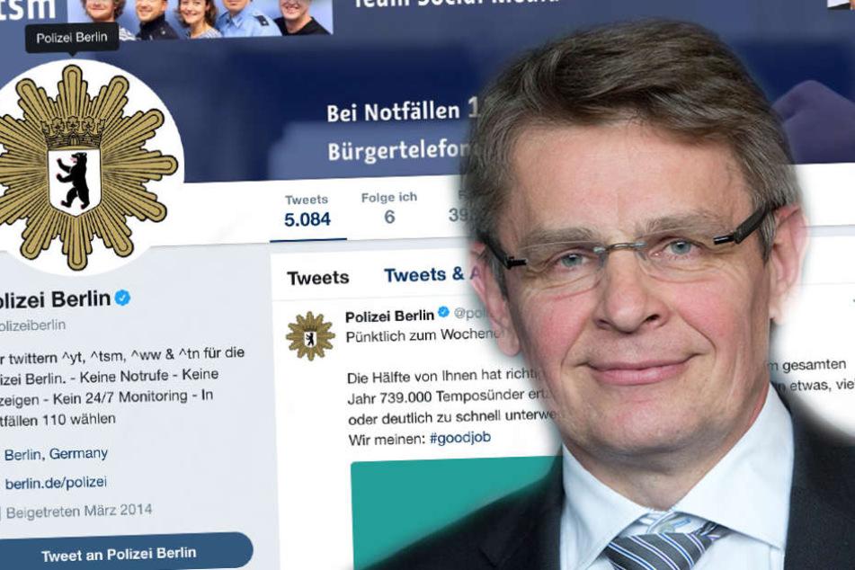Polizeipräsident Klaus Kandt verteidigt die Arbeit der Beamten in den sozialen Medien.