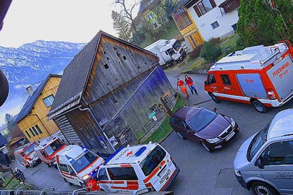 Die österreichischen Rettungskräfte waren mit einem Großaufgebot vor Ort.
