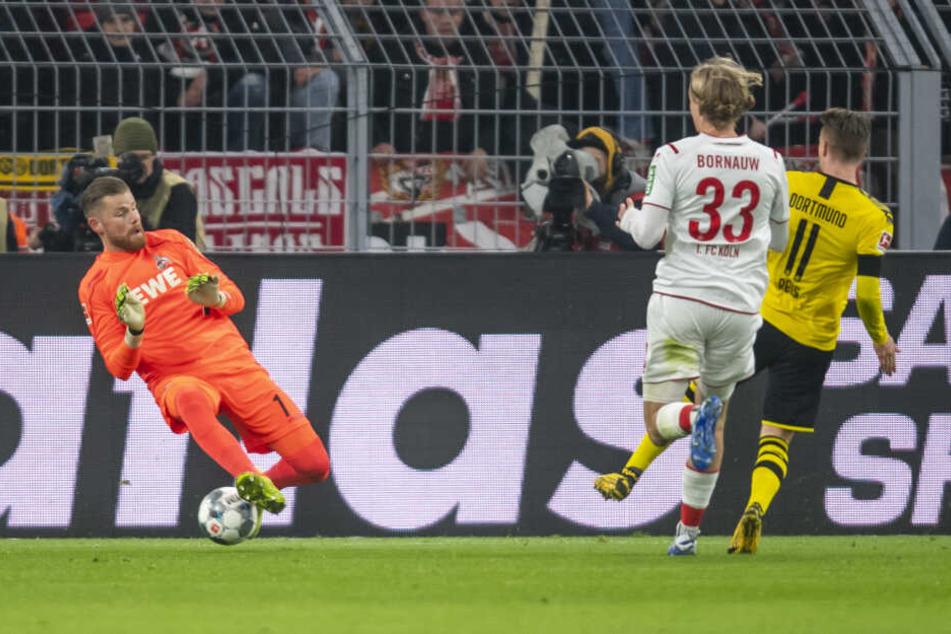 Kölns Keeper Timo Horn konnte das 2:0 durch Marco Reus nicht verhindern (29.).