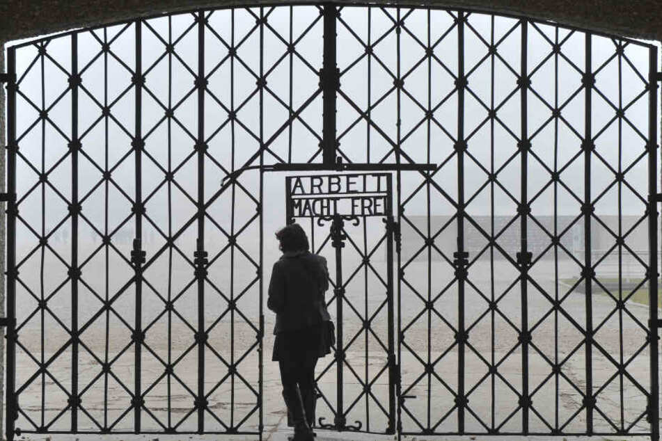 Ein Eingang zum ehemaligen Konzentrationslager in Dachau.