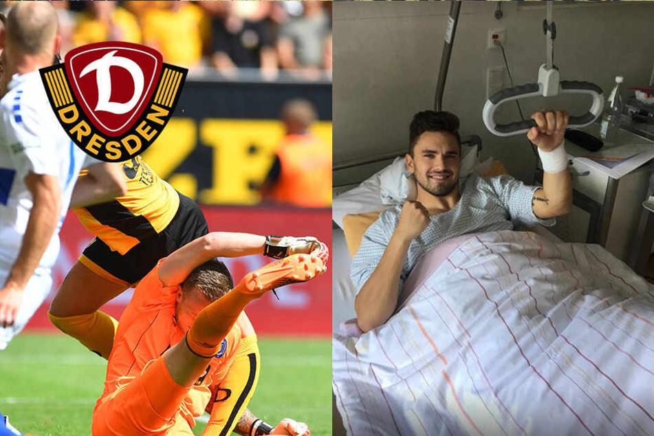 Dynamo-Angreifer Testroet erfolgreich am Kreuzband operiert