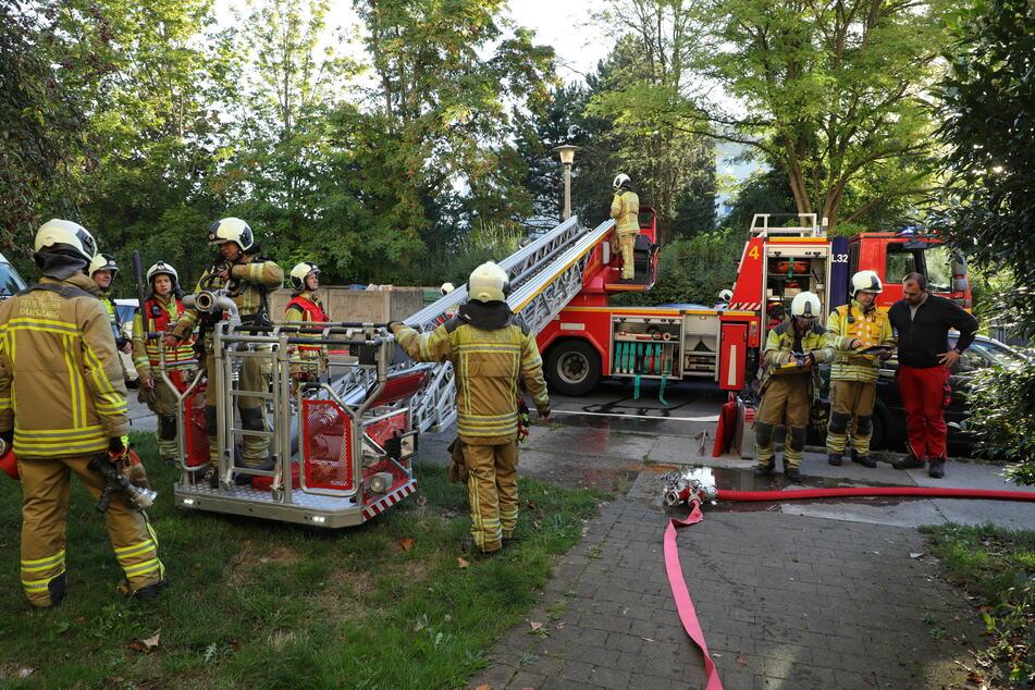 Die Löschtrupps bekamen die Flammen schnell in den Griff.