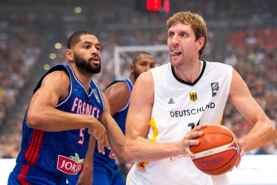 2015 spielte auch Dirk Nowitzki in der Kölner Lanxess-Arena Basketball.