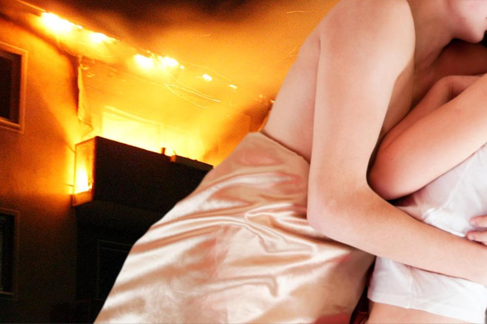 Das junge Paar schlief fest und bekam nichts von der Entstehung des Feuers mit (Symbolbild).