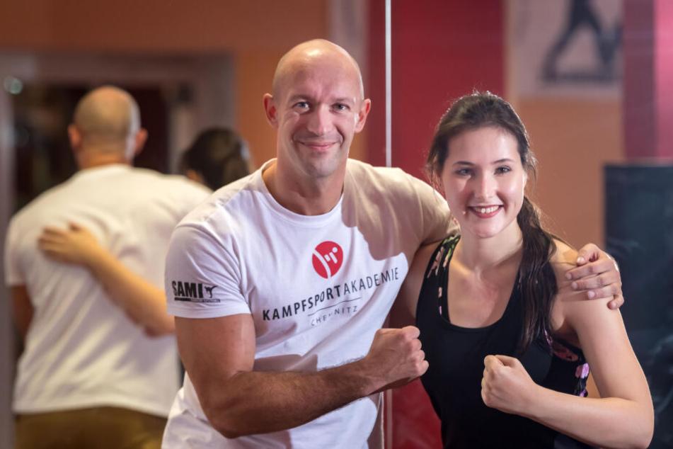 Geschafft! Isabel Möller (21) und Torsten Fischer (35) nach dem Training.