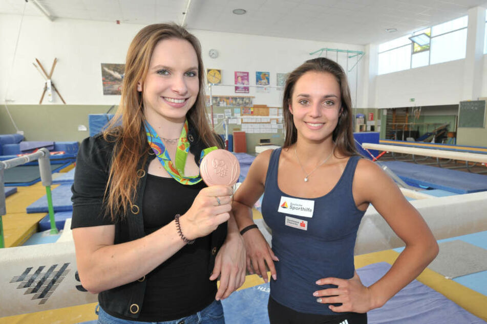 Die Turnerinnen Sophie Scheder (20) und Pauline Schäfer (20) kommen ebenfalls aus der Chemnitzer Talentschmiede.