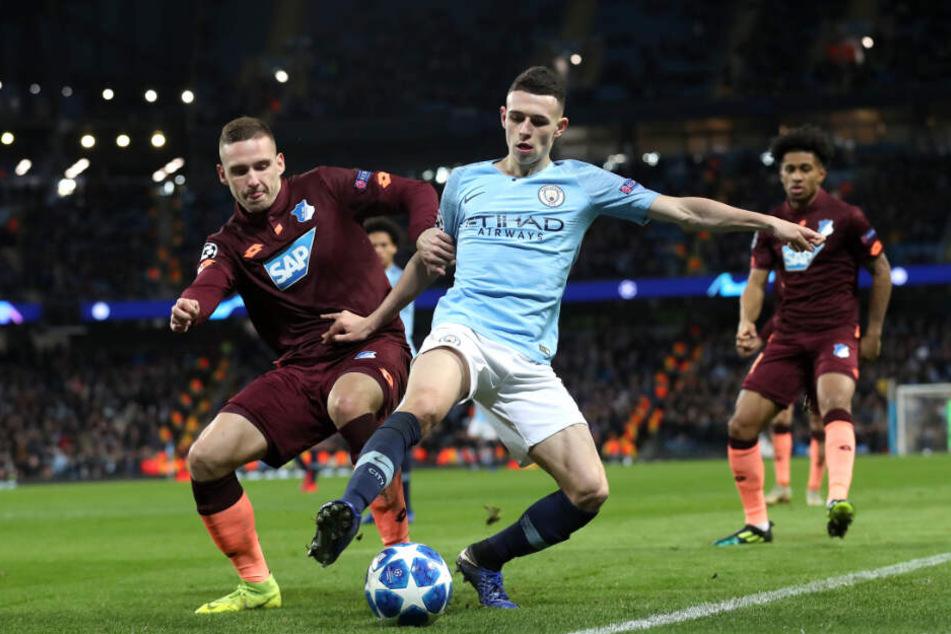 Die TSG 1899 Hoffenheim will es in der Saison 2019/20 wieder mit den ganz großen Brocken aufnehmen, wie hier gegen Manchester City in der Champions League.