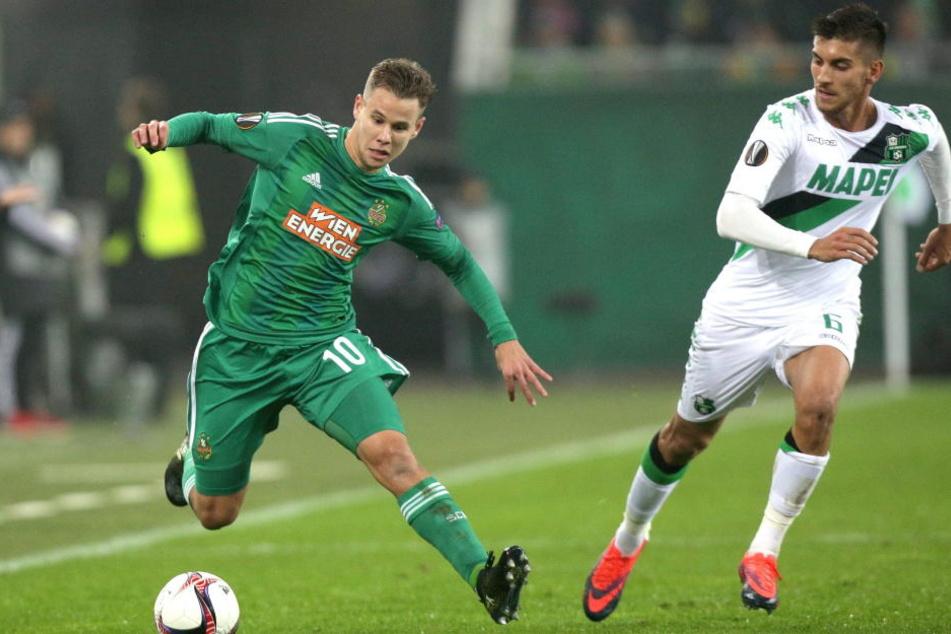 Louis Schaub kam für Rapid Wien in 203 Pflichtspielen zum Einsatz (Archivbild).