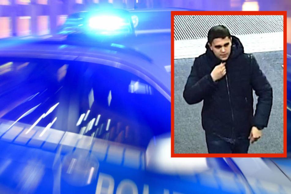 Mit diesem Bild aus einer Überwachungskamera sucht die Polizei den Computerdieb.