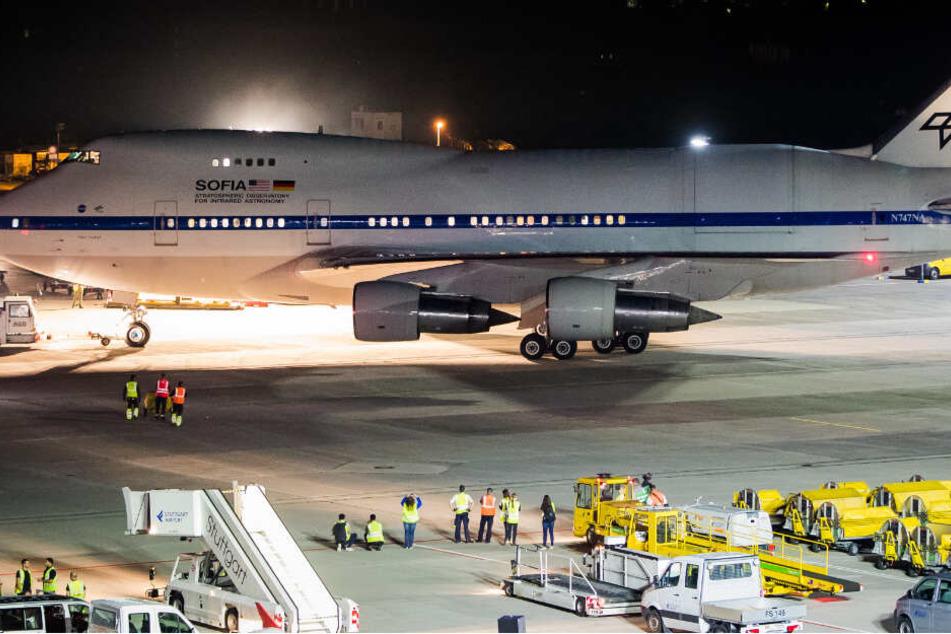 """""""SOFIA"""" ist da: Fliegendes Labor der NASA in Stuttgart gelandet"""