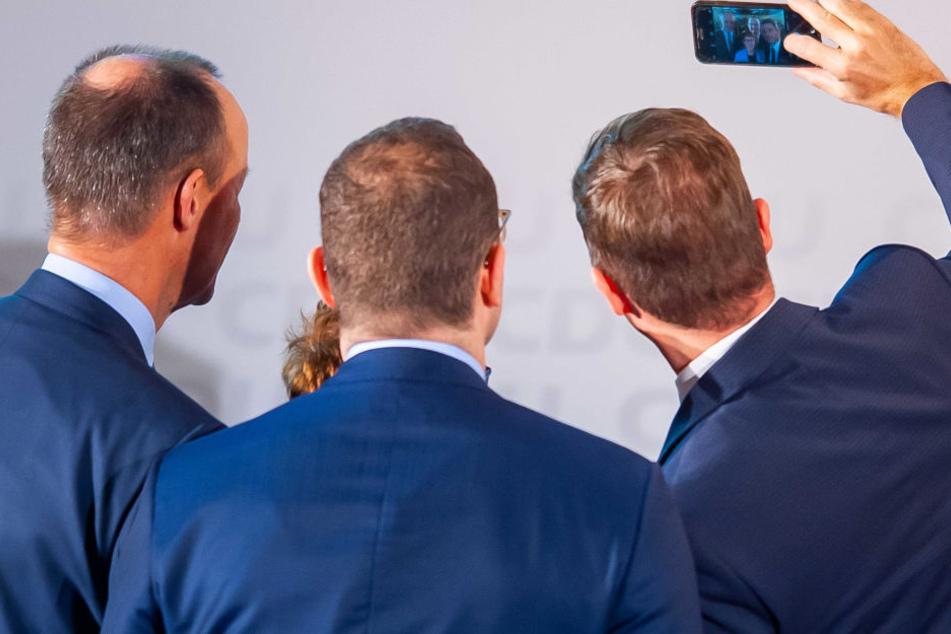 Zeit für ein Selfie blieb bei der Debatte auch noch.