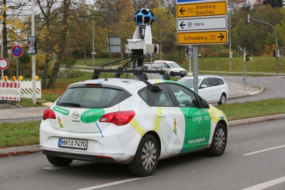 Erwischt! Google-Auto filmt in Sachsen