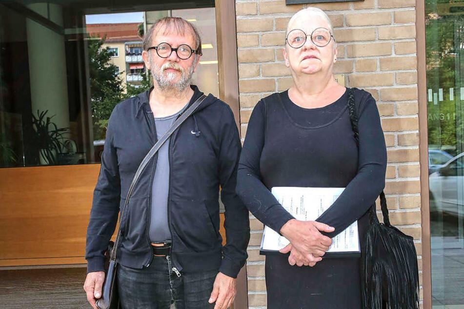 Schwiegen bei Gericht, waren aber sichtlich betroffen: Die Kunsthof-Macher Uwe Piller (64) und Sigrid Körner (62).