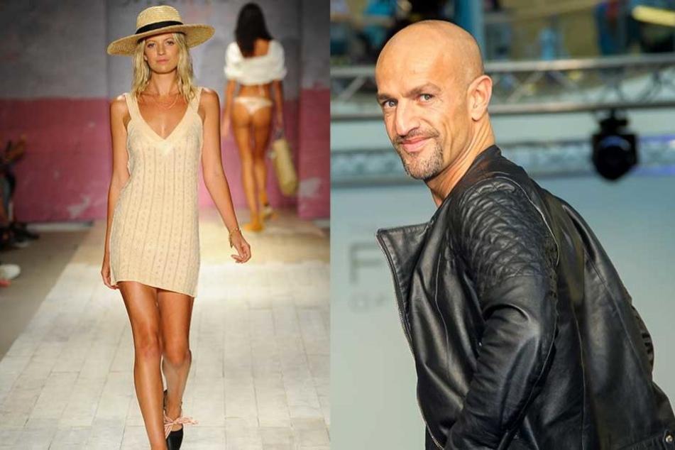 Peyman Amin (47, re.) managte schon Heidi Klum und Giselle Bündchen. Jetzt hält der Modelagent in Dresden nach neuen Talenten Ausschau.