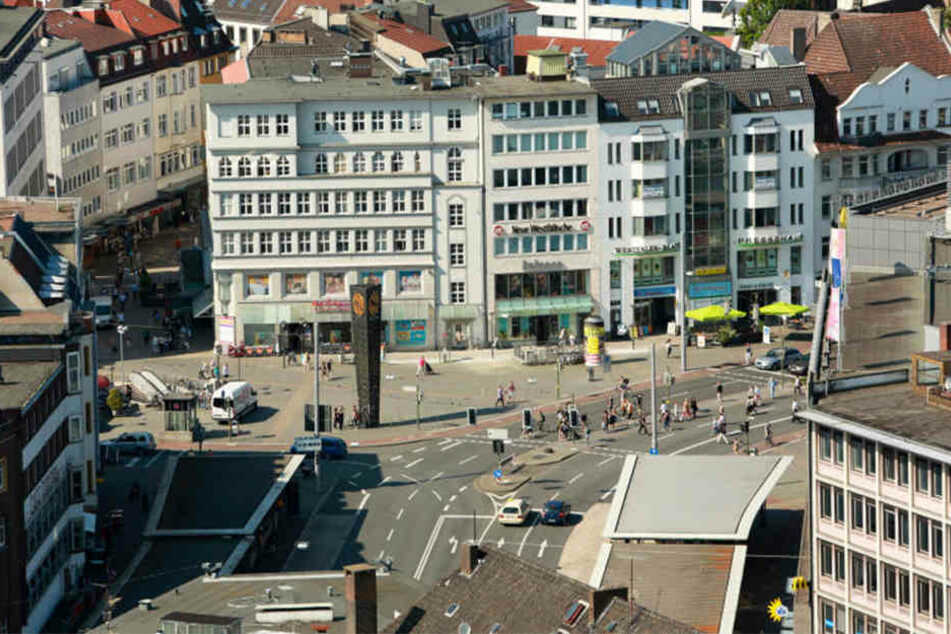 Auf dem Jahnplatz und in der Banhofstraße findet ab Donnerstag der Bielefelder Herbstmarkt statt.