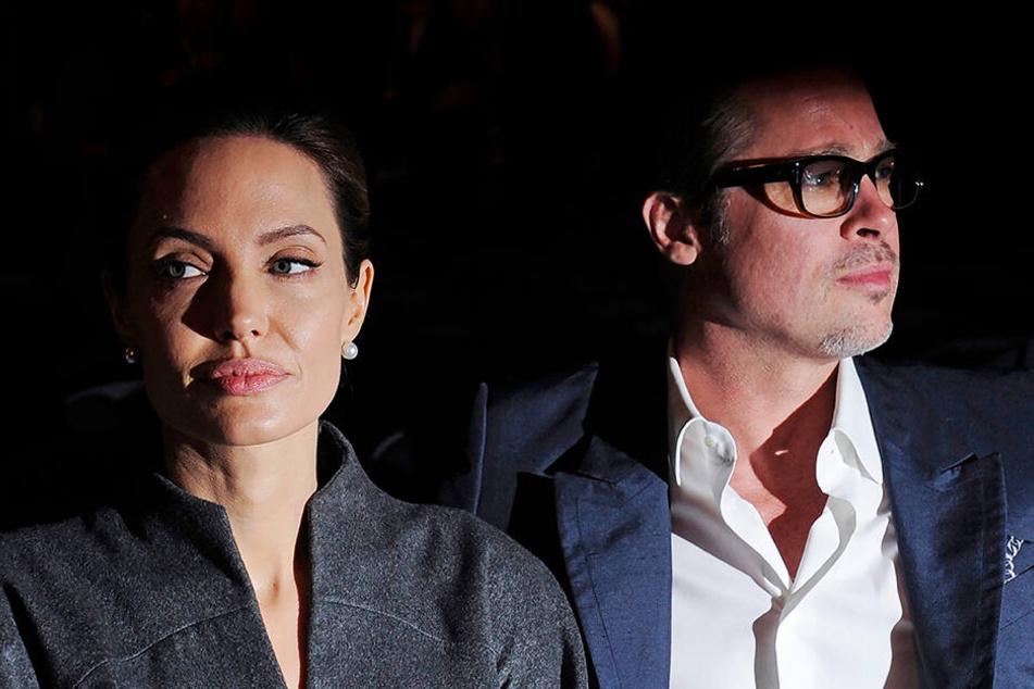 Viel zu sagen haben sich Angelina Jolie und Brad Pitt nicht mehr.