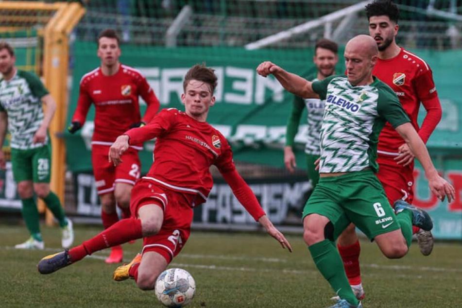 Auch gegen Germania Halberstadt sollte Chemie Leipzig am Samstag kein Tor gelingen.