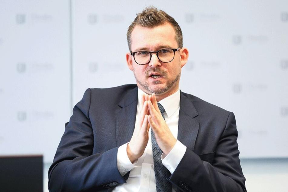 Baubürgermeister Raoul Schmidt-Lamontain (41, Grüne) äußerte sich zur Umfrage.