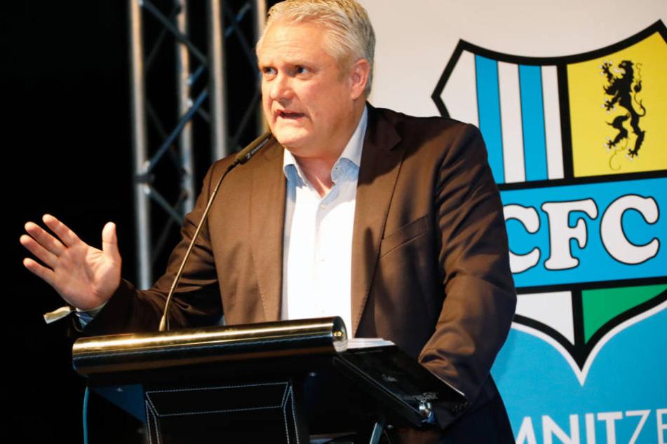Stephan Beutel auf der Mitgliederversammlung des CFC.