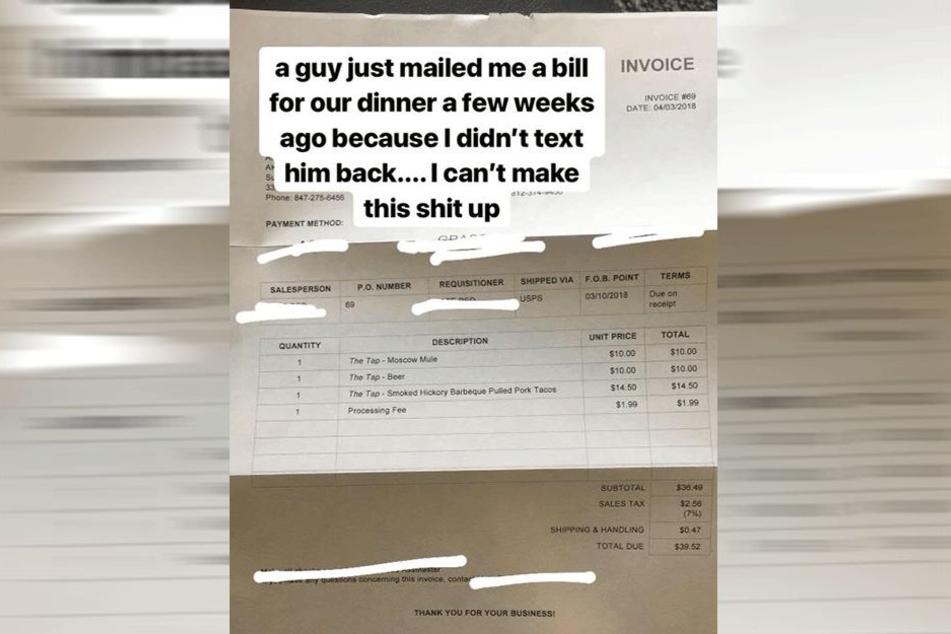 Diese Rechnung flatterte Amanda Burnett ins Haus.