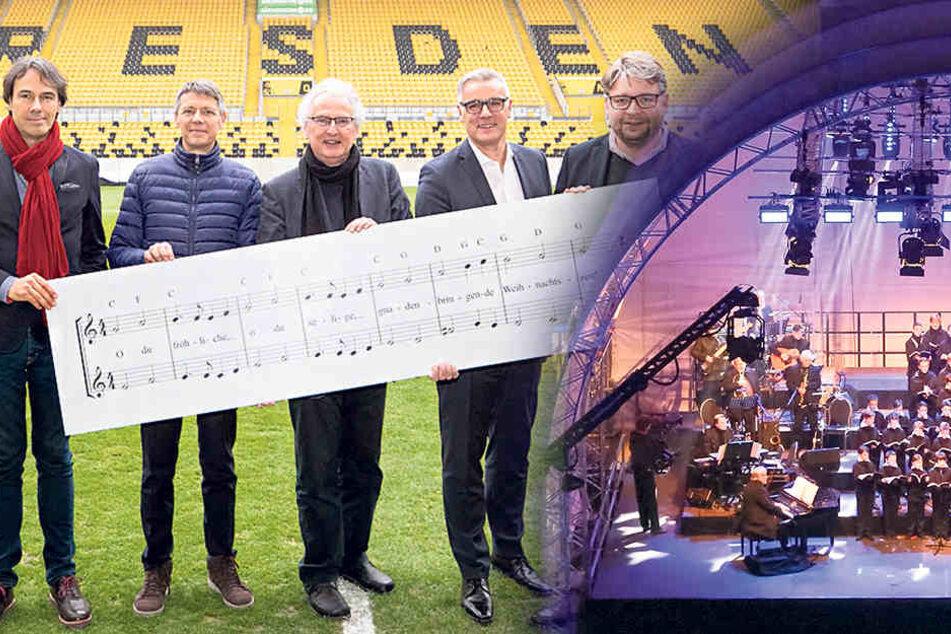 Das Programm für das Weihnachts-Event des Kreuzchors im Stadion steht