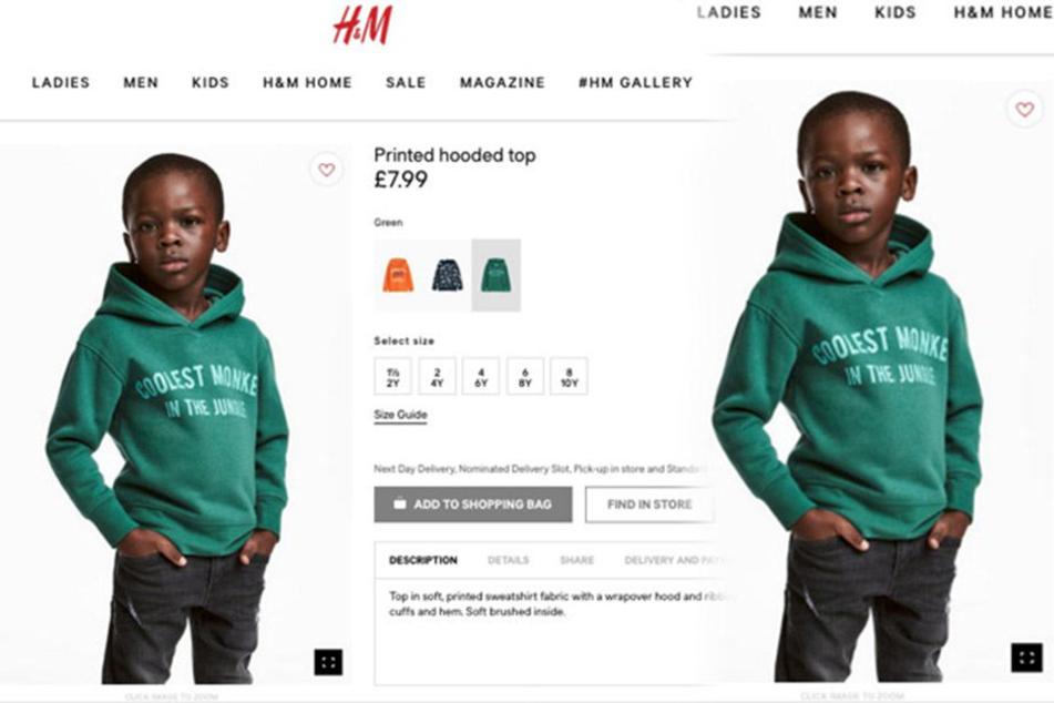 """Rassismus-Skandal bei H&M! Schwarzer Junge trägt """"Monkey""""-Pulli"""
