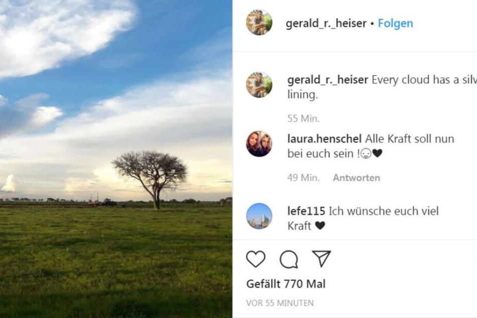 Farmer Gerald meldete sich via Instagram.