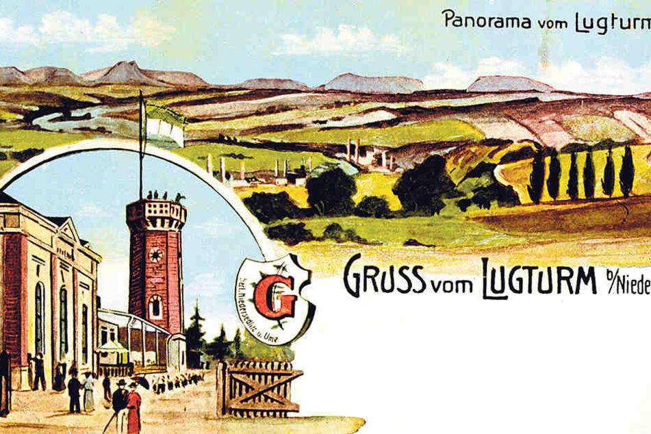 So prächtig sah der Lugturm um  1900 auf Postkarten aus.