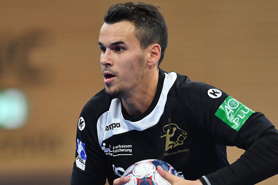 Roman Becvar, von Bundesligist SC DHfK Leipzig gekommener Tscheche und davor in Rostock schon einmal in der 2. Liga aktiv, zeichnet sich vor allem durch Kreativität aus.