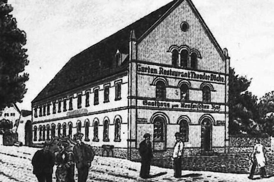 """So sah das """"Gasthaus zum Reußischen Hof"""" um 1900 aus. Erbaut wurde es bereits 1851."""