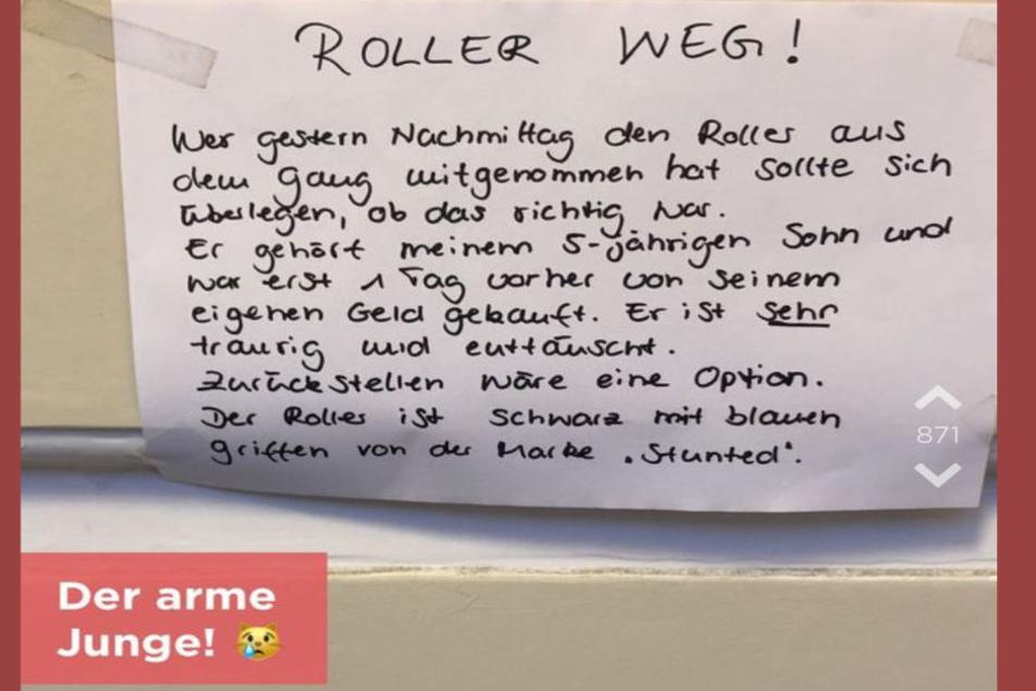 Der Brief der Eltern sorgte bei Jodel für eine Kettenreaktion.