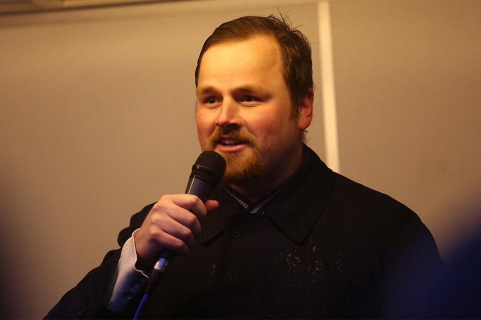 """Matthias Scholz (29) trat als JA-Landes-Chef zurück, weil gegen ihn wegen """"Sieg Heil!""""-Rufen in einer Cocktailbar ermittelt wurde. Laut Scholz wurde das Verfahren eingestellt."""