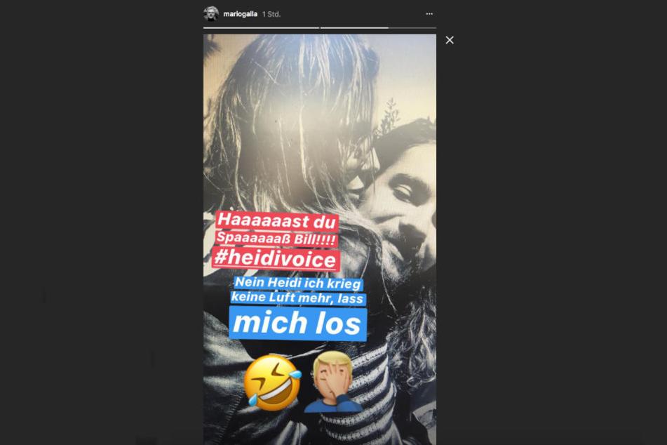 Mario Galla macht sich über Heidi Klum und Tom Kaulitz lustig... obwohl?