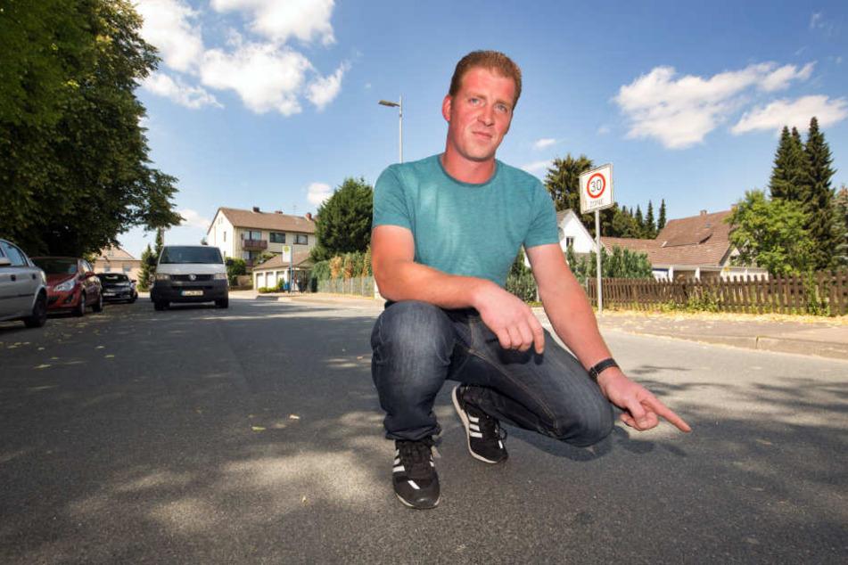 Nils Winkler war der erste Autofahrer, der an der Unfallstelle eintraf.