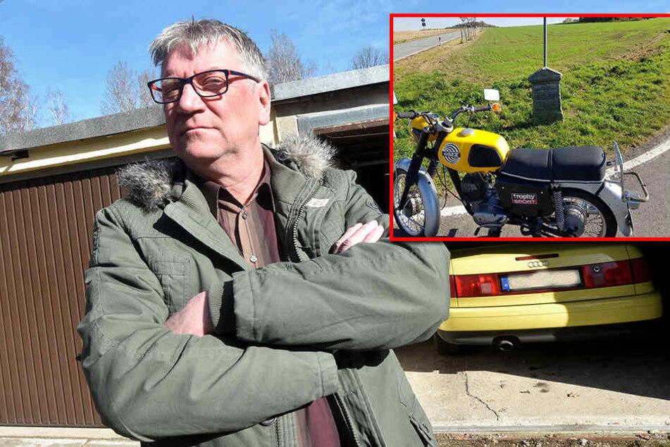 Seltenes Motorrad geklaut: Schützenverein-Chef sucht seine Maschine