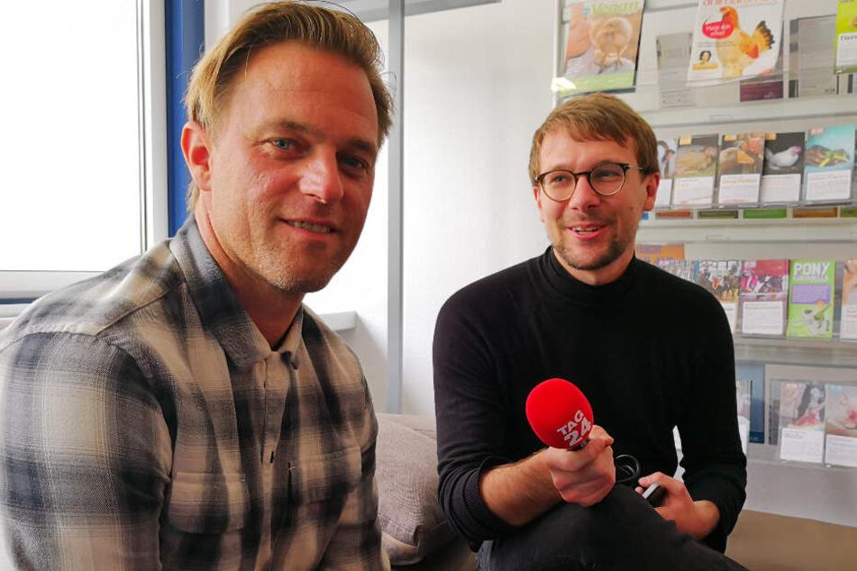 VfB-Legende Timo Hildebrand (l.) im Exklusiv-Interview mit TAG24-Redakteur Niklas Noack (r).
