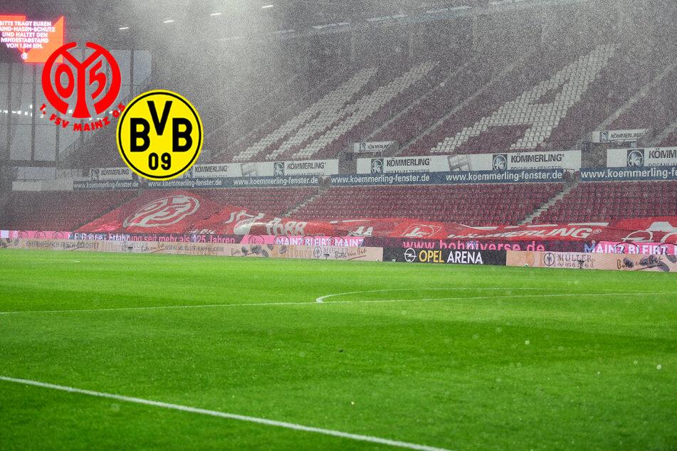2. Hälfte Mainz gegen BVB startet später: Wetter spielt verrückt!