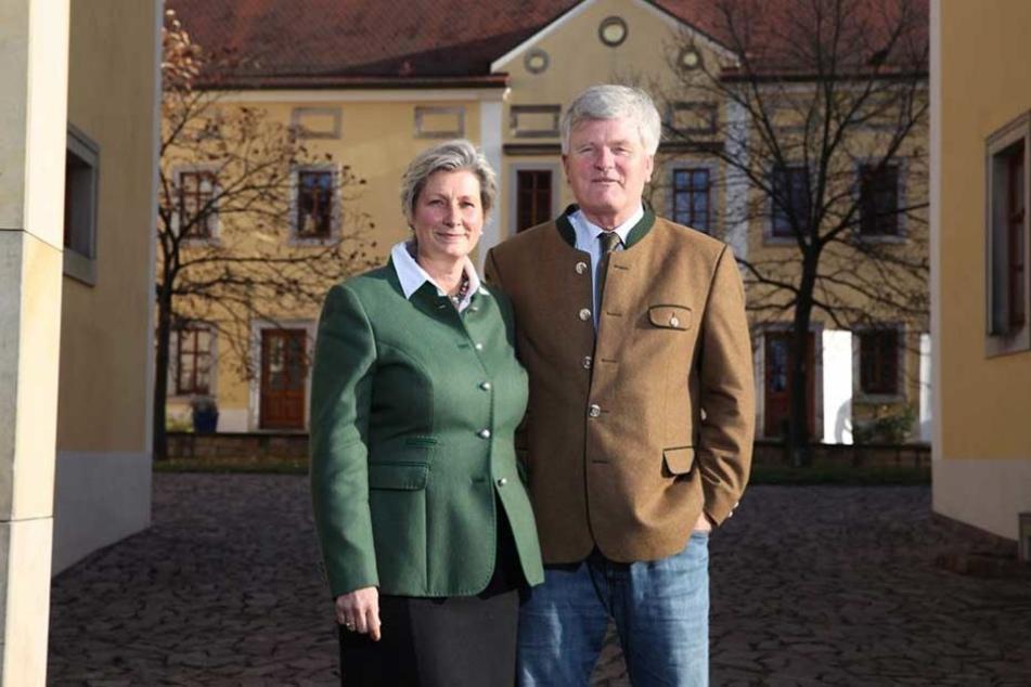 Alexandra (53) und Georg Prinz zur Lippe (60) leiten das mit Abstand größte Privatweingut im im sächsischen Weinbauverband.