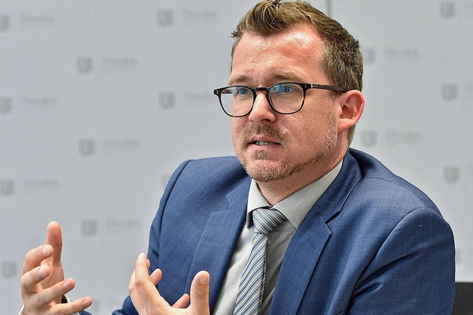 Konnte sich mit seinen Plänen zur Straßenmusik nicht durchsetzen: Baubürgermeister Raoul Schmidt-Lamontain (42, Grüne).