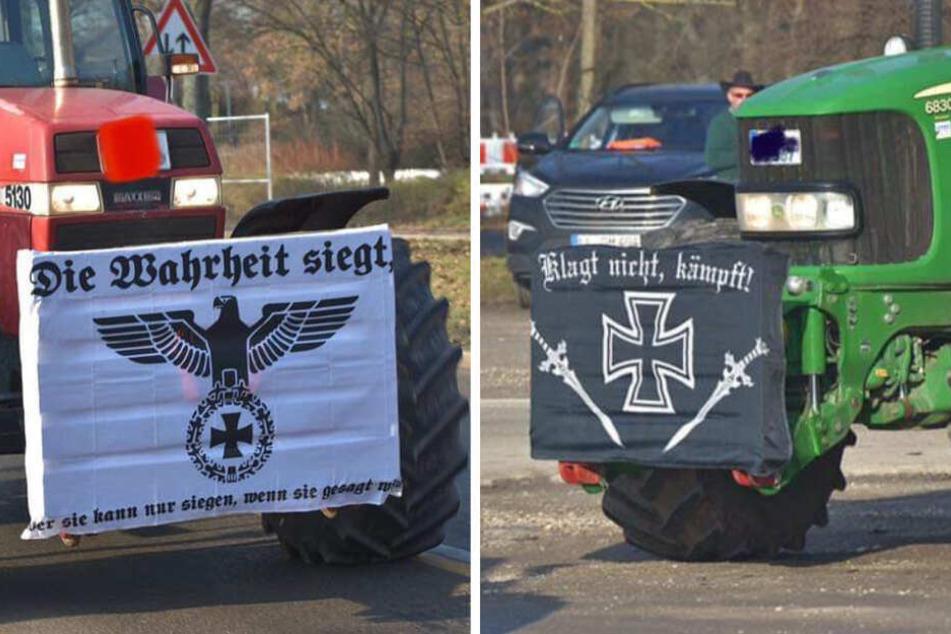 Nazi-Banner an Traktoren? Bilder von Bauern-Demo sorgen für Ärger