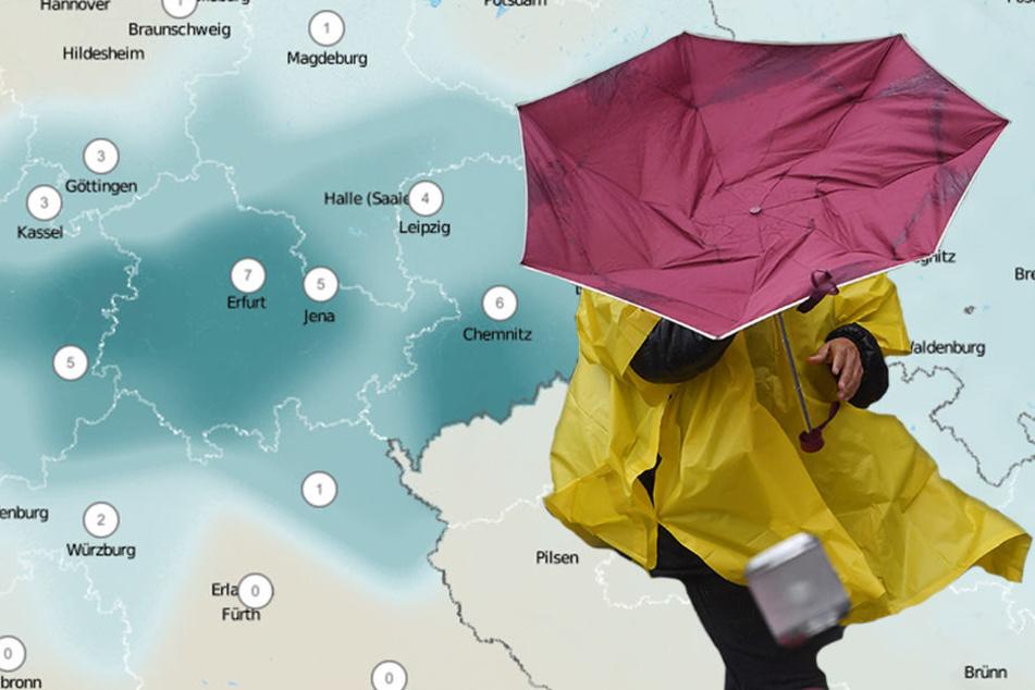 Vergesst am Wochenende nicht, eure Schirme einzupacken!