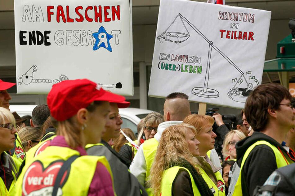 Verdi ruft zu Streik bei Kaufland in Lübbenau auf