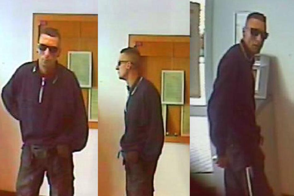 Der Mann wurde in einer Bank in Böhlen gesehen.
