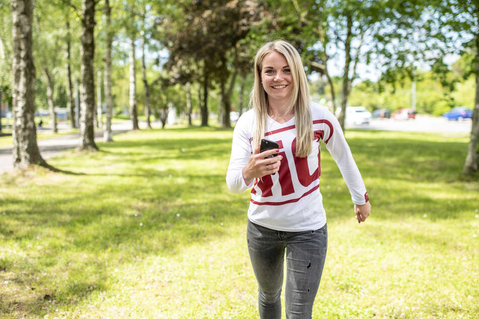 """Melanie Kessler (27) von """"Wohnen in Chemnitz"""" will auch für den virtuellen Firmenlauf trainieren."""
