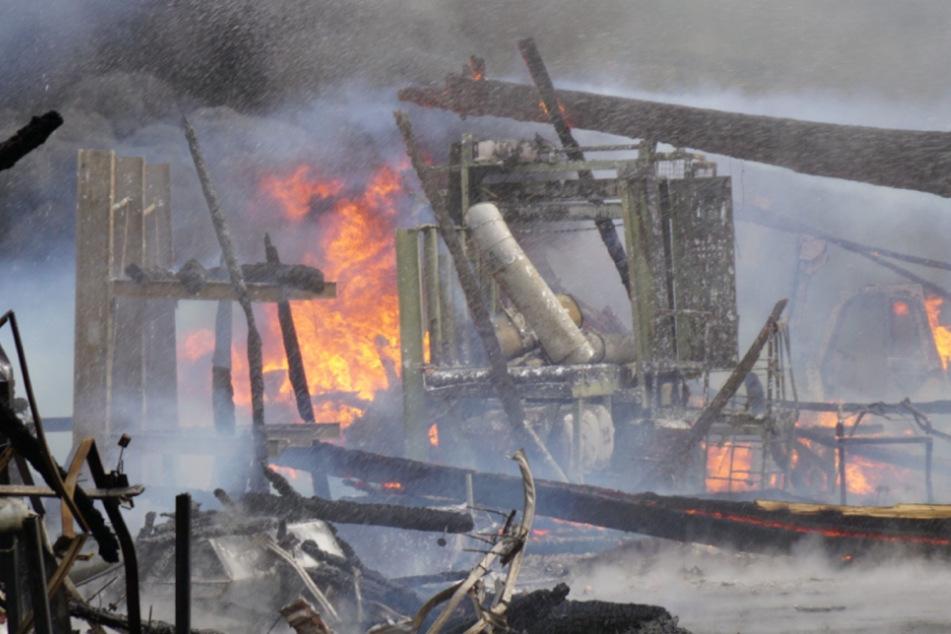 Sägewerkhalle fällt Flammen bei Grossbrand zum Opfer