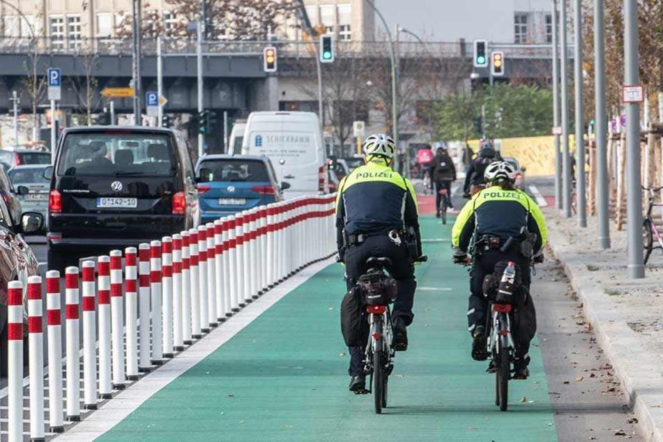 Vorbild Berlin: Breiter Radweg in der Stadt.