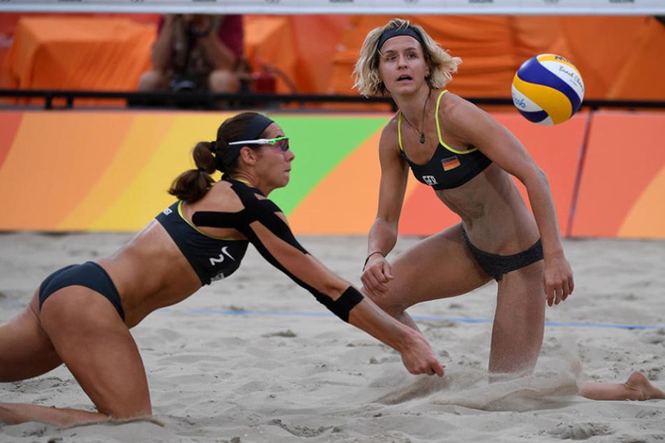 Laura Ludwig und Kira Walkenhorst spielen als erstes europäisches Frauenteam im Finale um eine olympische Goldmedaille.